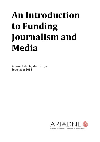 Funding Journalism and Media