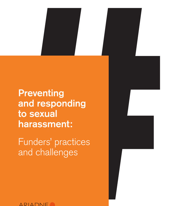 Preventing and Responding to Sexual Harassment: Funders' Practices and Challenges