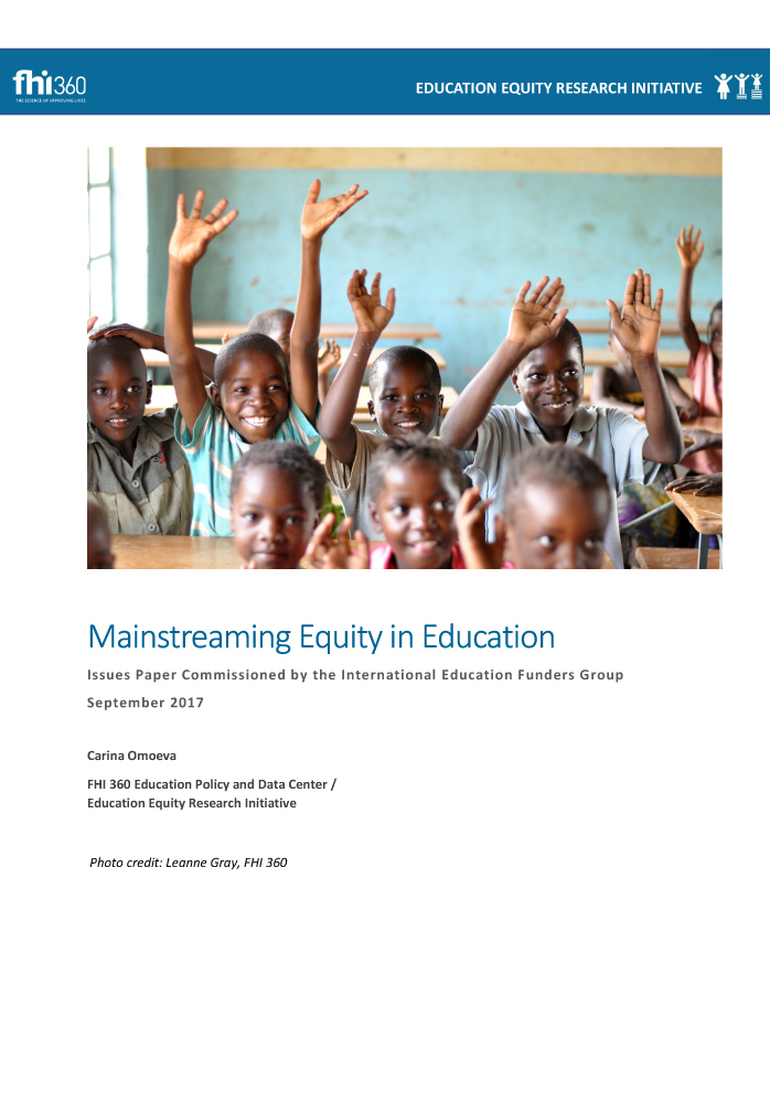 Mainstreaming Equity in Education